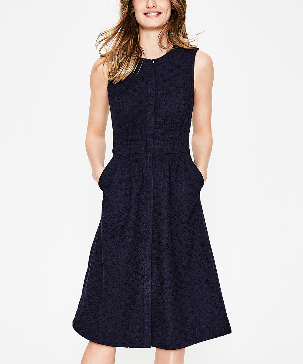 Boden Navy Leila Shirt Dress Women Zulily
