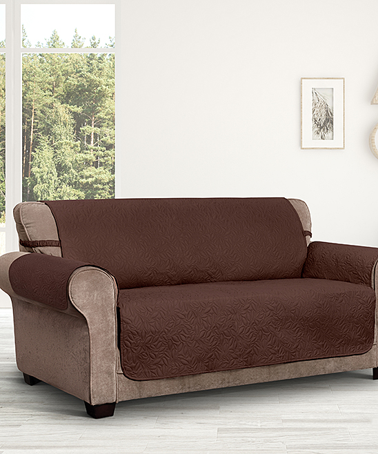 Jeffrey Home  Indoor Furniture Covers COFFEE - Coffee Belmont Leaf Secure-Fit Sofa Slipcover