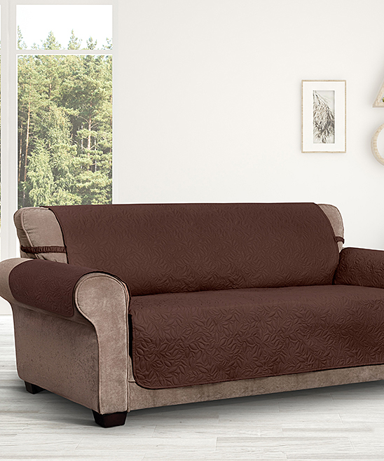 Jeffrey Home  Indoor Furniture Covers COFFEE - Coffee Belmont Leaf Secure-Fit XL Sofa Slipcover