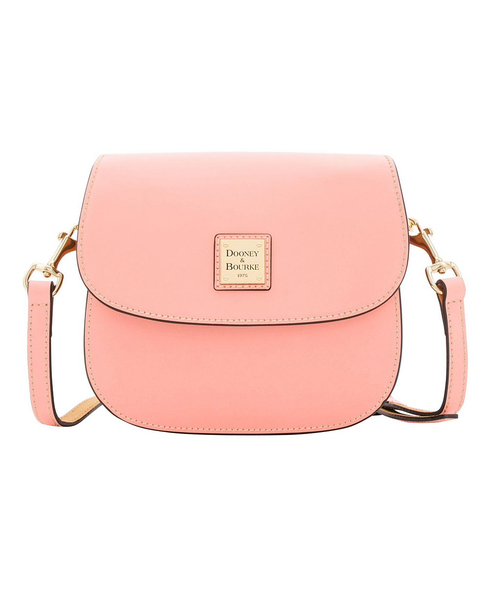 8651642eda0 Dooney & Bourke Light Pink Saddle Leather Crossbody Bag