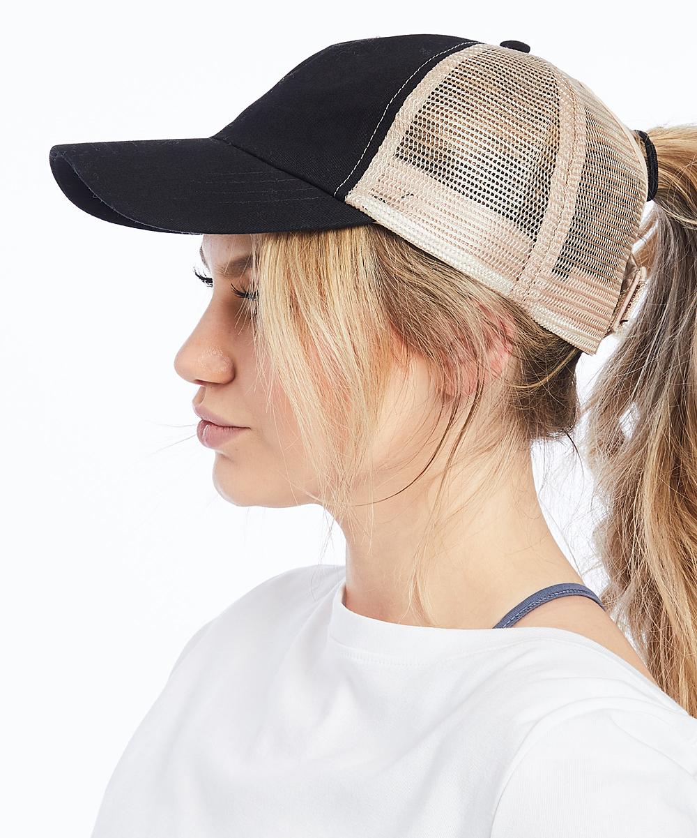 ec3da858e Ponyflo by David & Young Black Ponyflo Trucker Hat