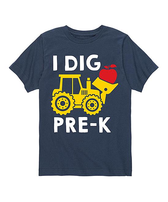 Navy 'I Dig Pre-K' Tee - Toddler & Kids