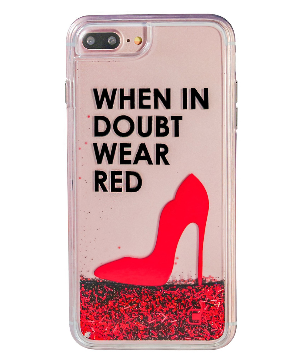 'When in Doubt Wear Red' Case for iPhone