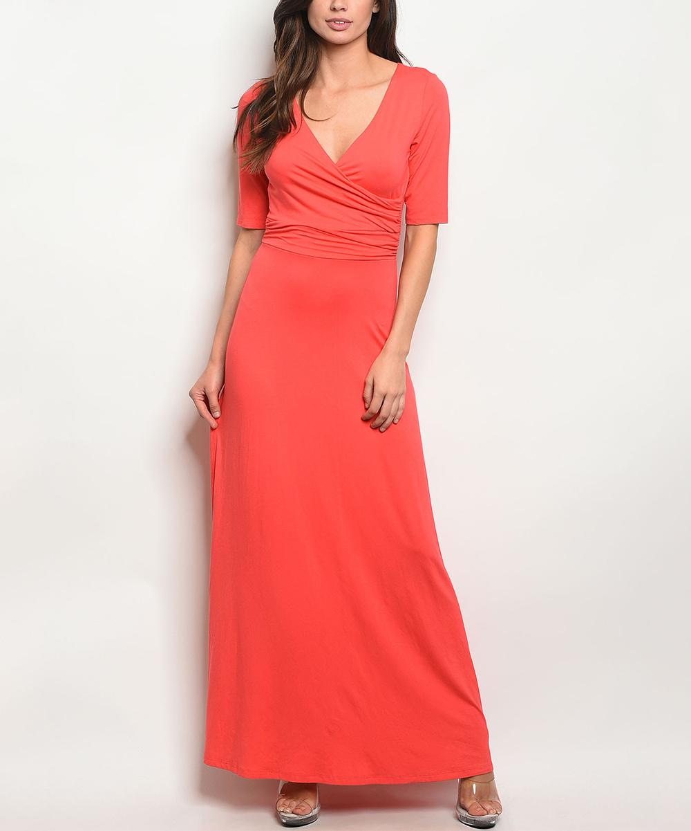 The Balec Group Coral Surplice Maxi Dress - Women  4756df7c1