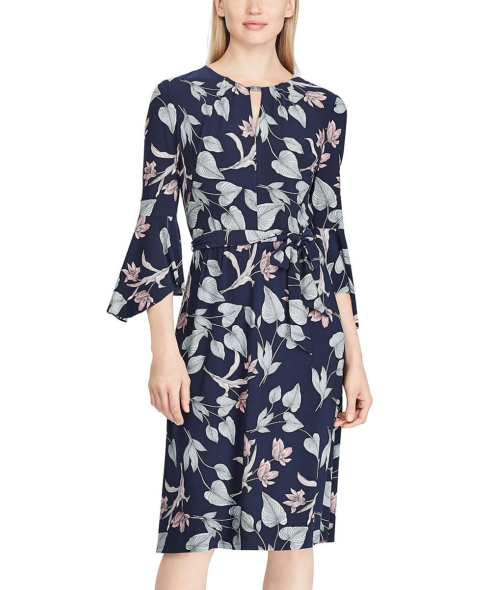 Lauren Ralph Lauren Navy Blush Floral Shift Dress Women Zulily