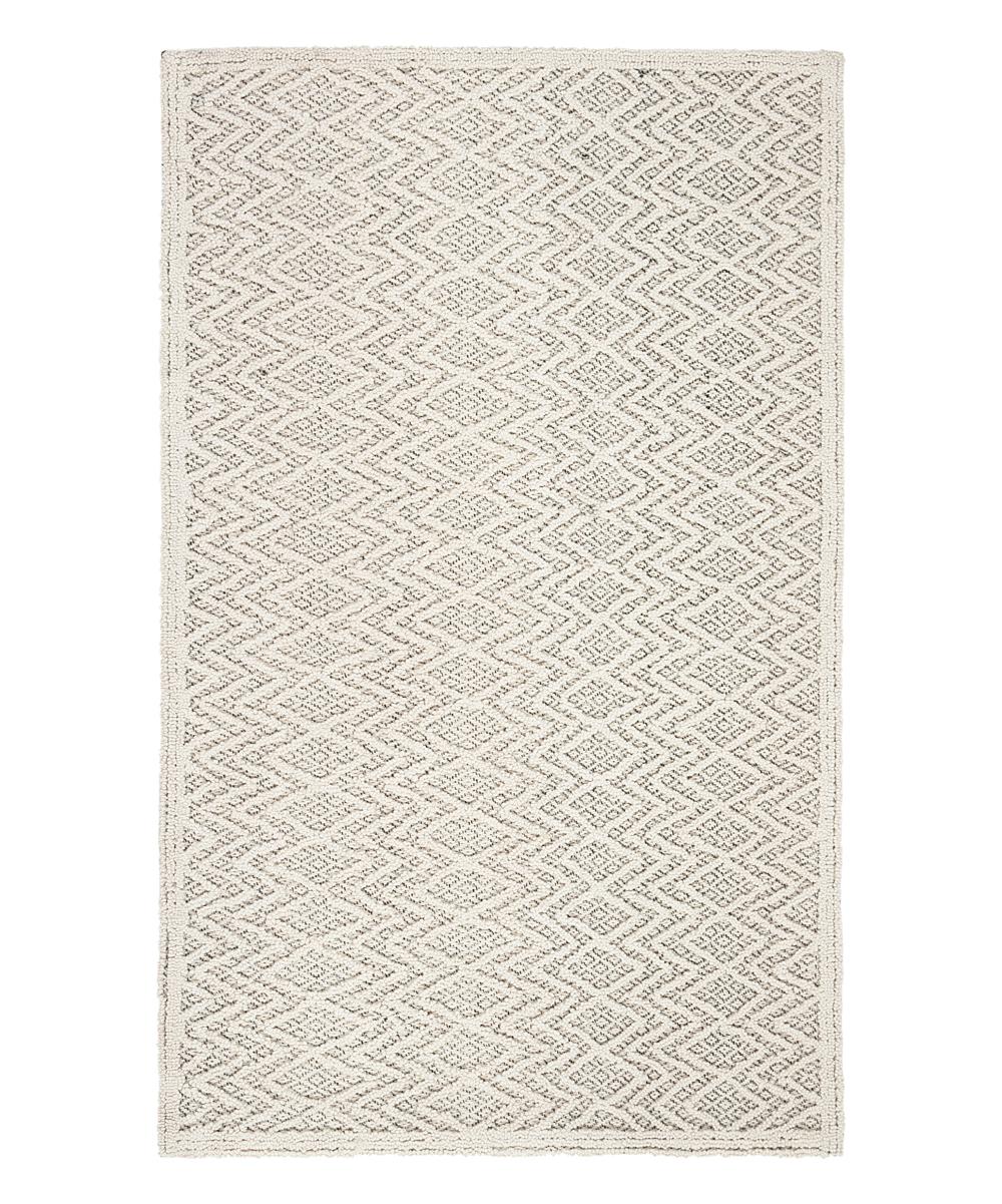 Safavieh Rugs Gray Black Geometric Ivan Trace Wool Rug Zulily