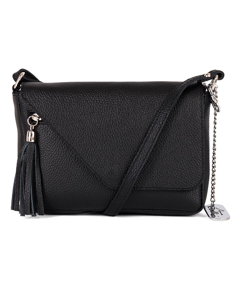 53ca5919b6a Anna Morellini Black Lola Leather Crossbody Bag
