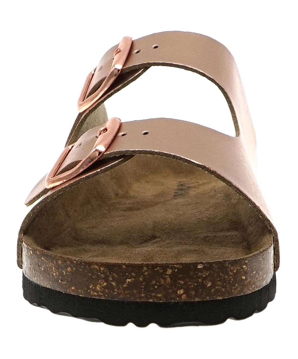 549b43b9840 OUTWOODS Rose Gold Bork Double-Buckle Sandal - Women