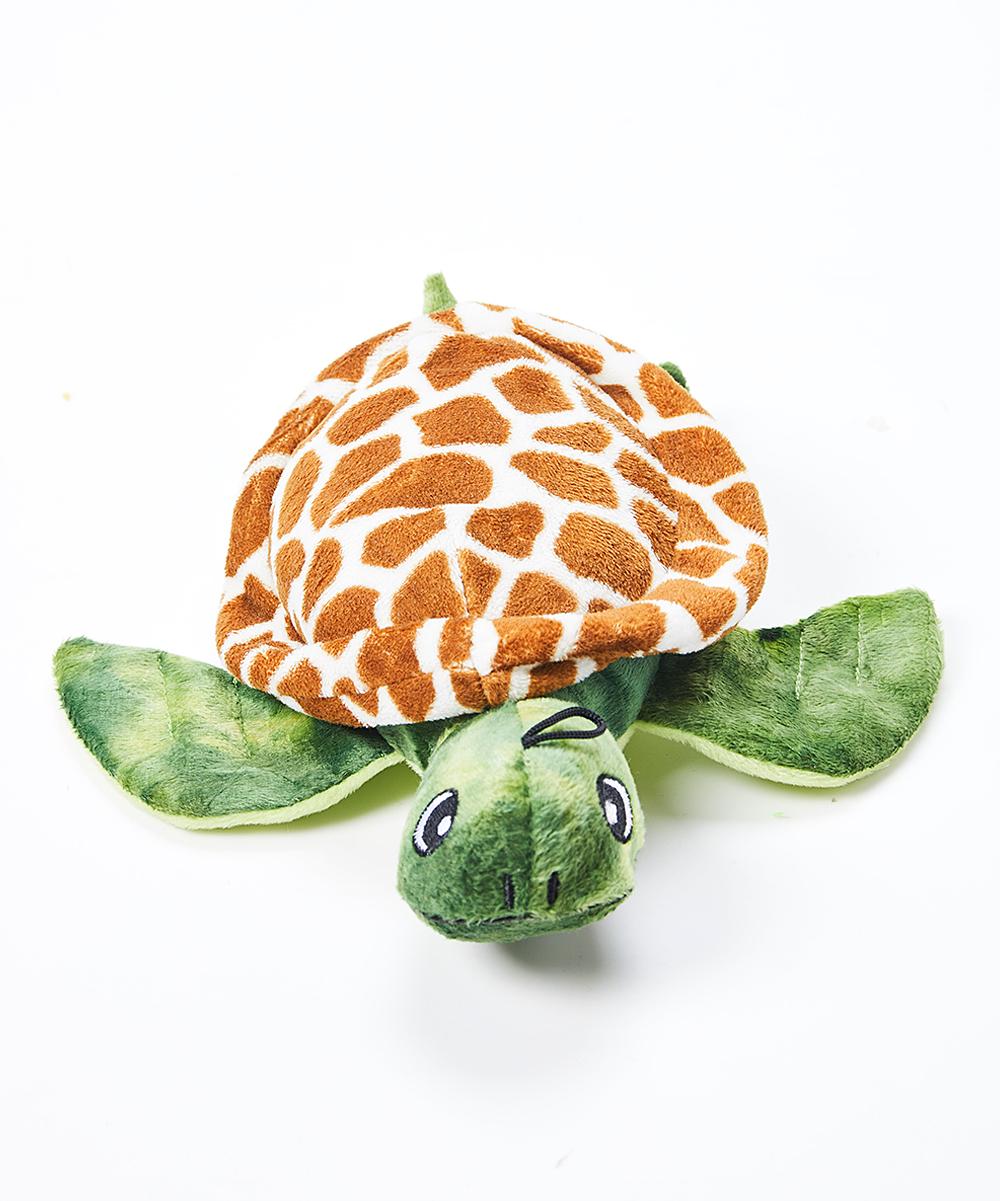 Snugarooz  Chew Toys Green - Shelldon the Turtle Plush Dog Toy