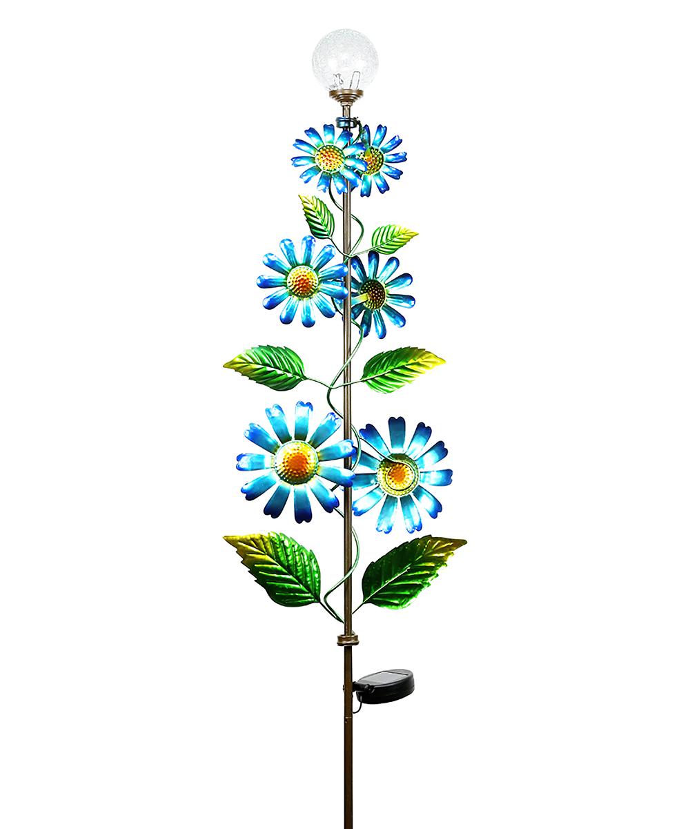 Blue Flower Tree Solar Garden Stake