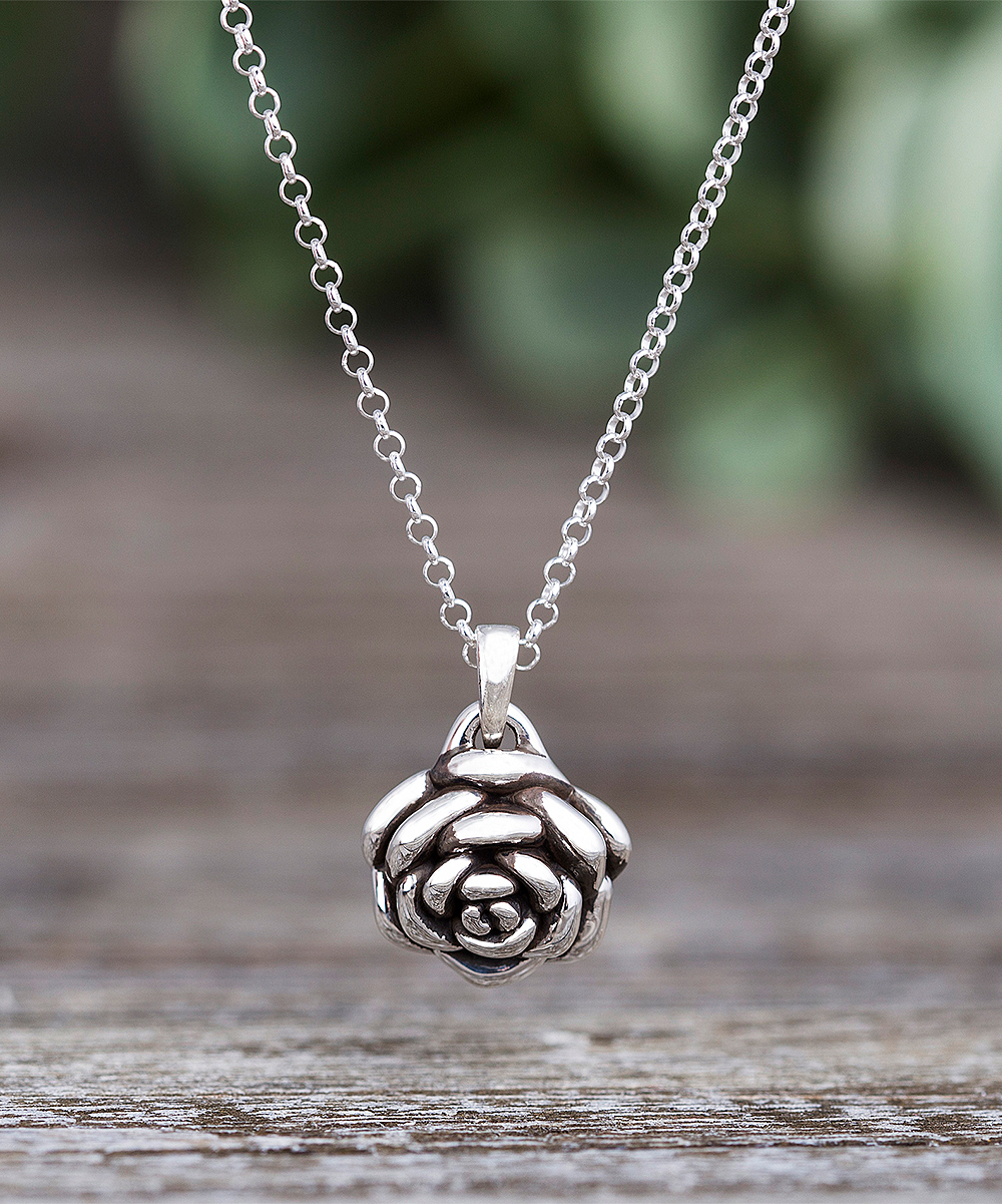 79f412740d1e4 Willowbird Sterling Silver Rose Pendant Necklace