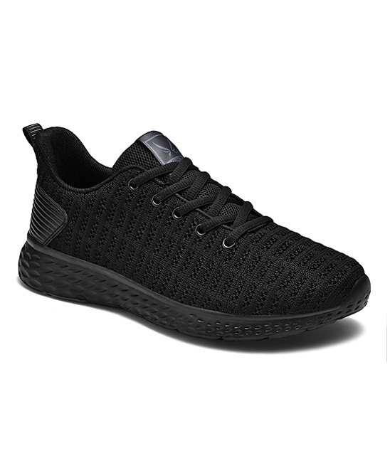 Fashion Sport Women's Sneakers Plain - Black Mesh Pull-Tab Sneaker