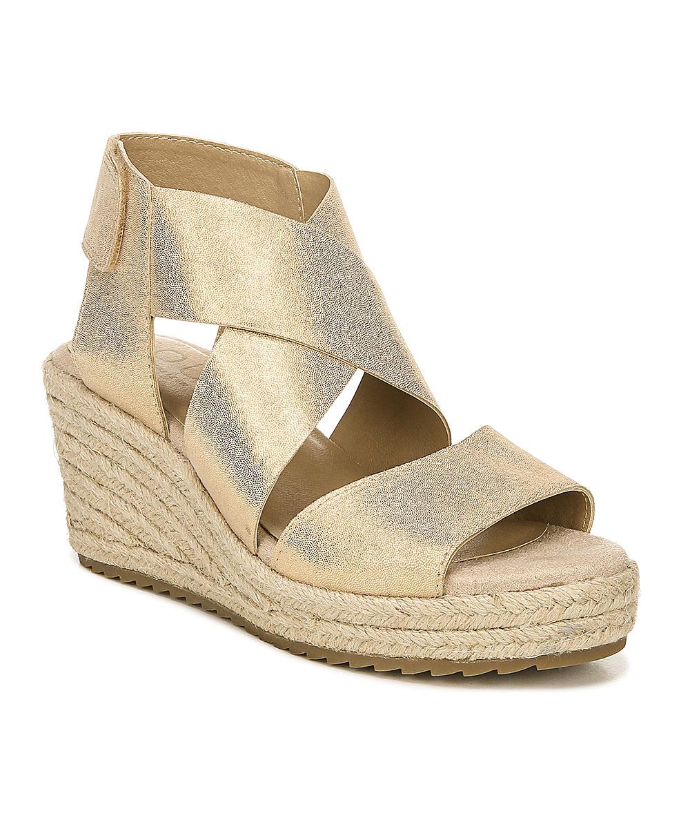 0ddb62cf523 SOUL Naturalizer Metallic Gold Leather Oshay Wedge Espadrille Sandal - Women