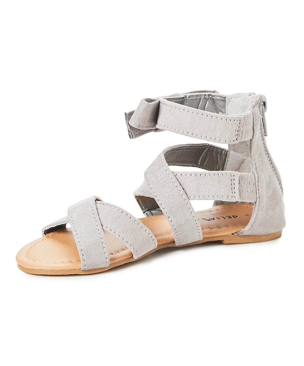 6fe06d634f96 dELiA s Gray Bow Gladiator Sandal - Girls