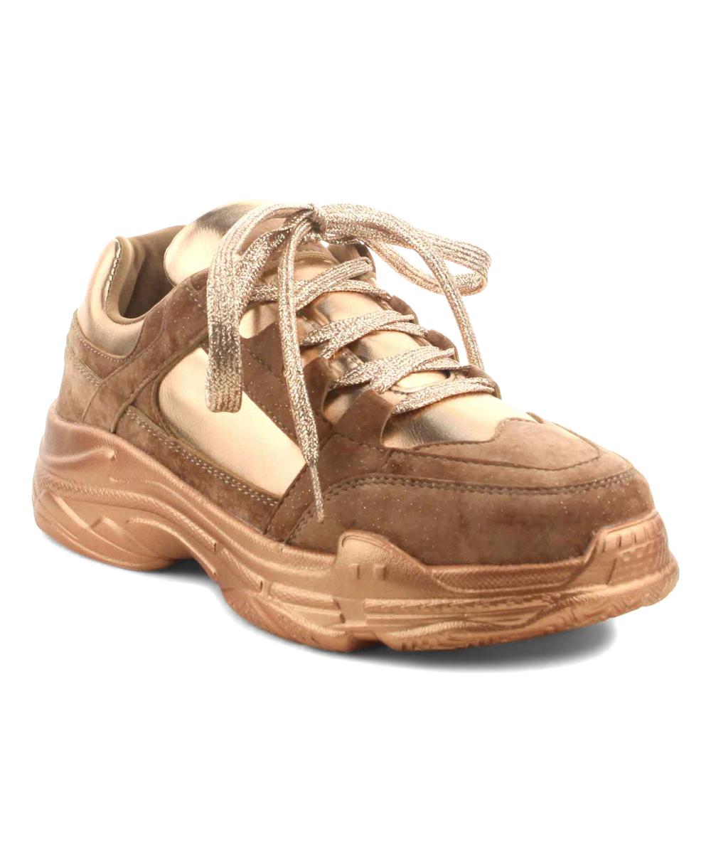 5c871f8e5f Cape Robbin Collection Rose Gold Metallic Lightning Sneaker - Women ...