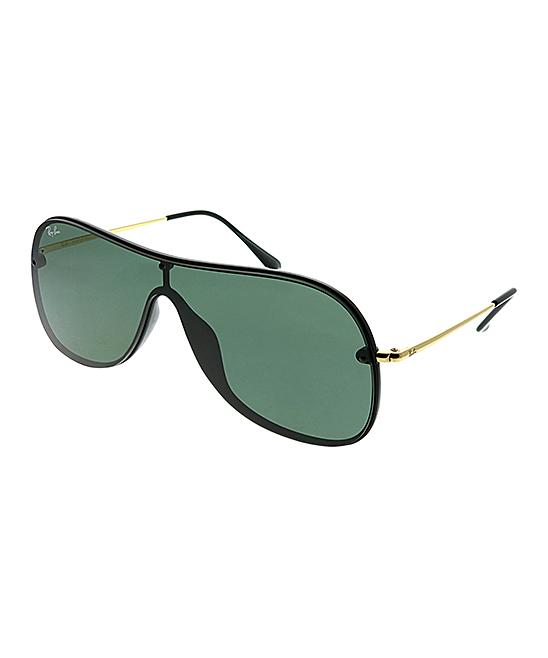 9ed5fc60d81242 Ray-Ban Black   Green Shield Sunglasses - Unisex