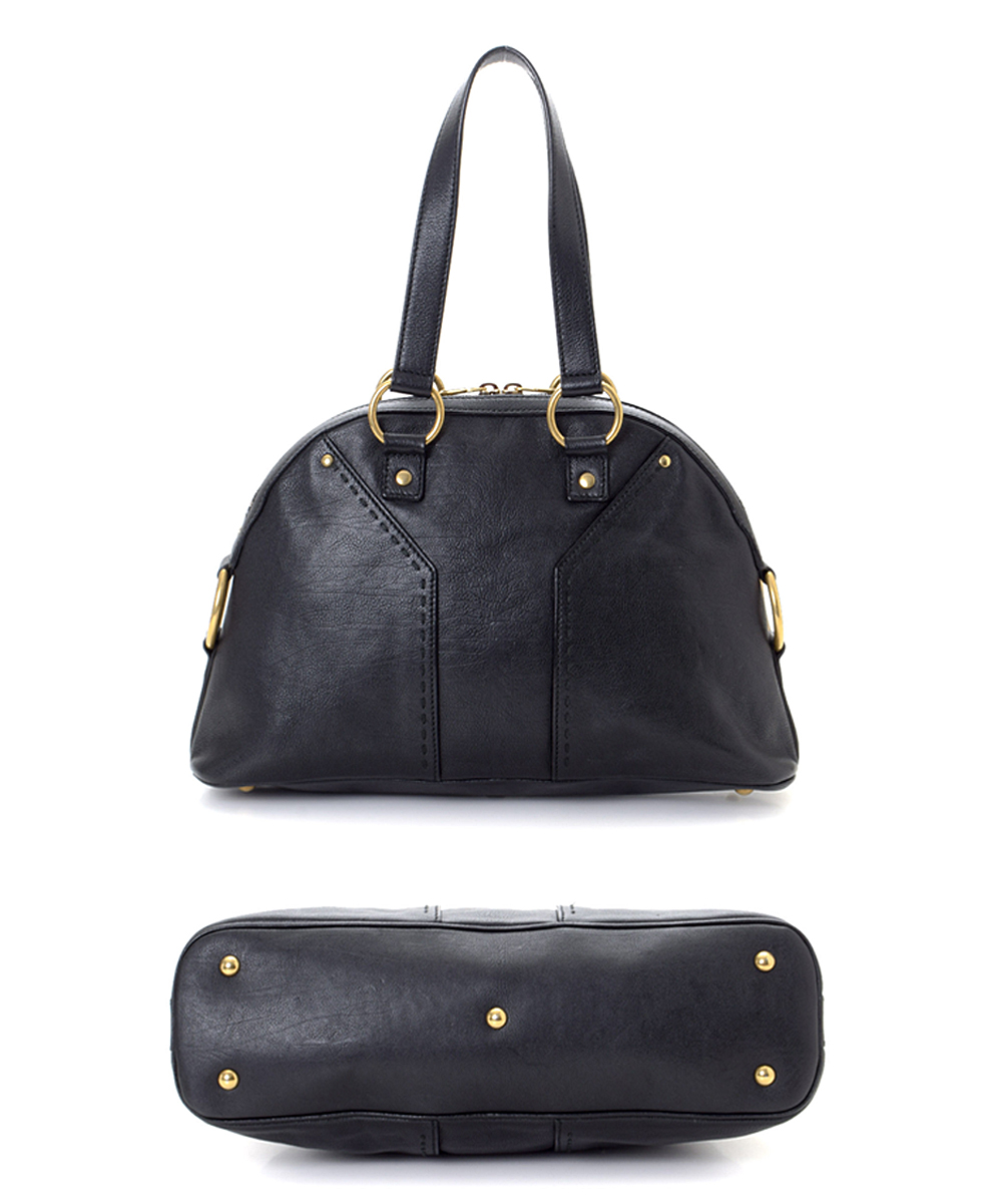 c3963957042 love this product Pre-Owned Black Muse Leather Shoulder Bag