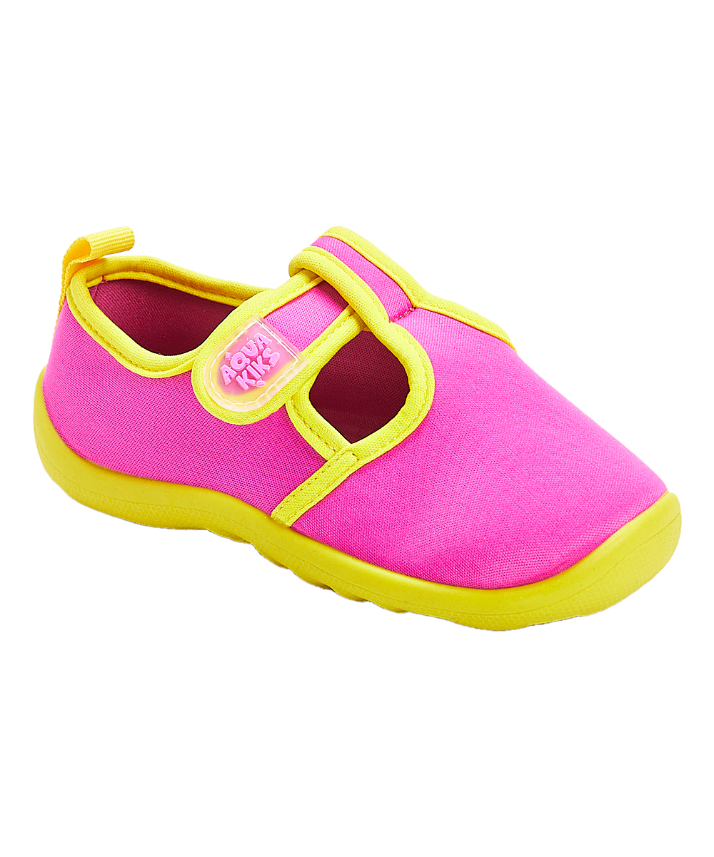 fdfb708dc570 AquaKiks Pink   Yellow Water Shoes - Girls