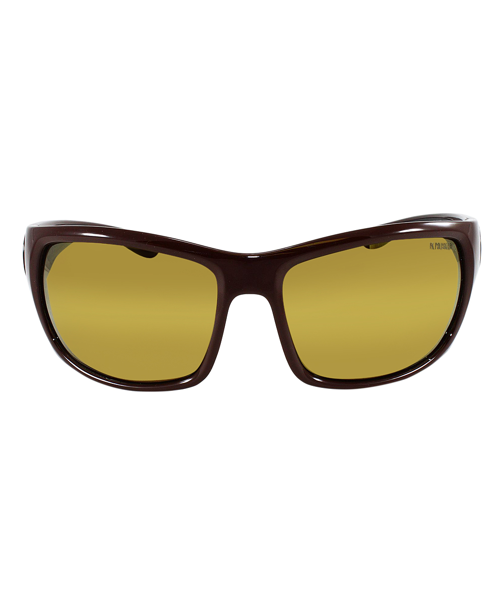 f1a8e5d86074 ... Mens Brown Gold Mirror HD Polarized Maroon & Black Gold Mirror  Polarized Sport Sunglasses - Alternate