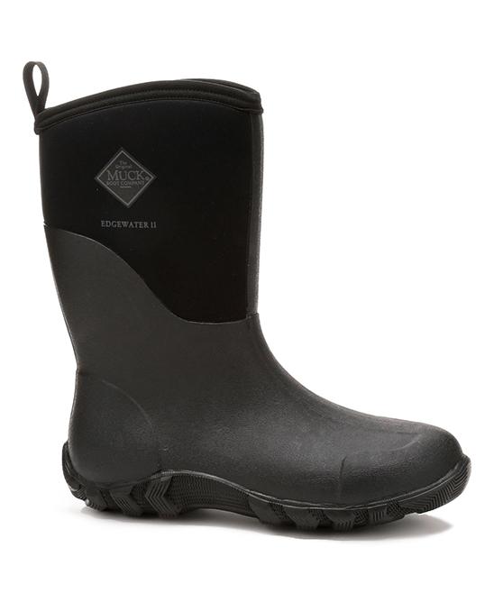 13816dcc0fb The Original Muck Boot Company Black Edgewater II Mid Rain Boot - Men