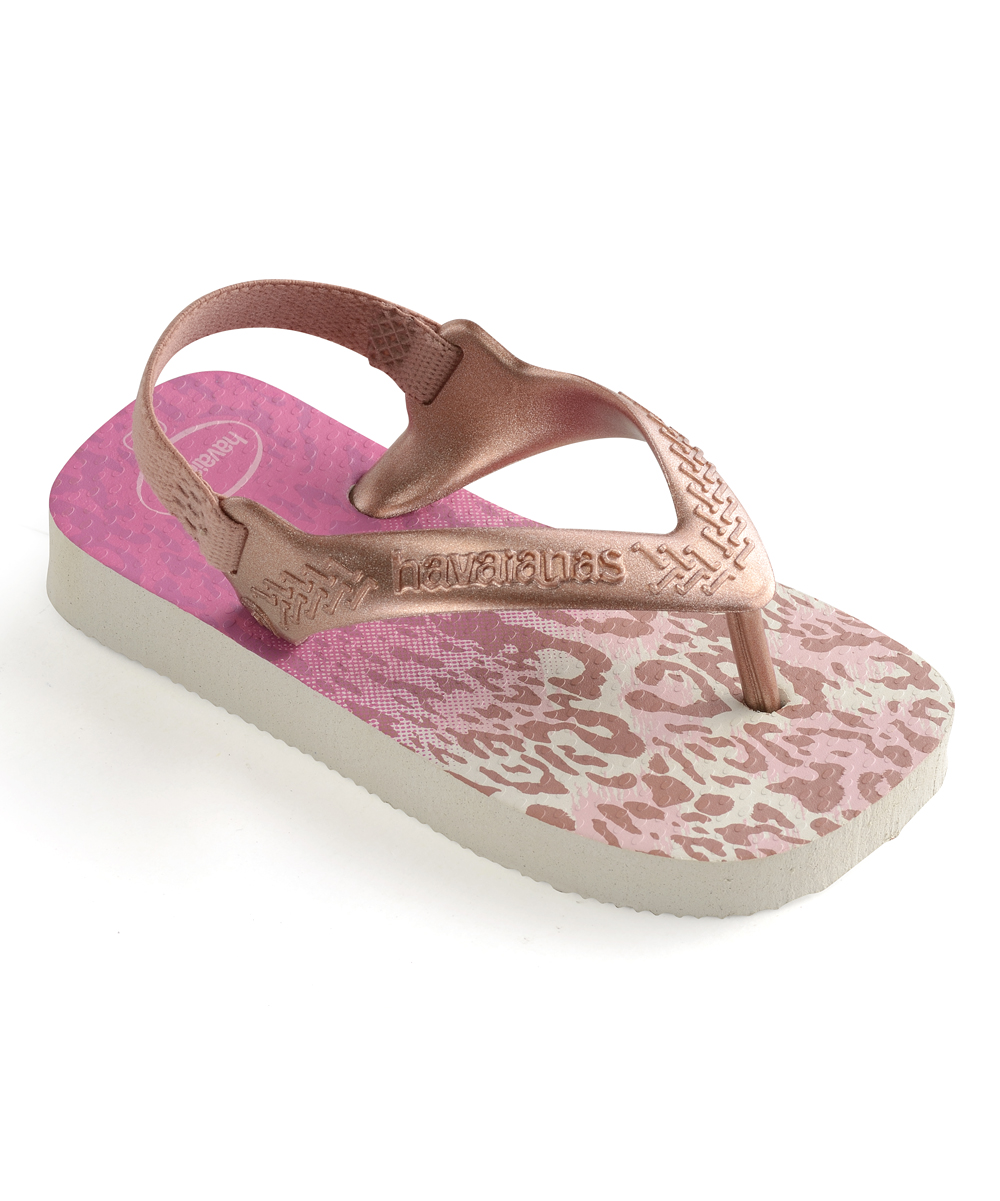 fe91f120b8b Havaianas Golden Blush   Pink Leopard Flip-Flop - Girls