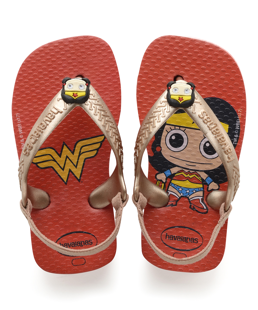 9774d194ab8 Havaianas Baby Wonder Woman Ruby Red Flip-Flop - Girls