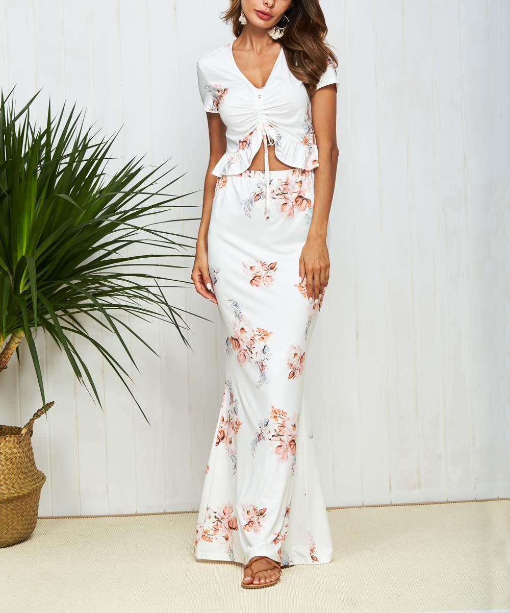 90ba0e9a288 Crop Top And Maxi Skirt Set Formal - Gomes Weine AG