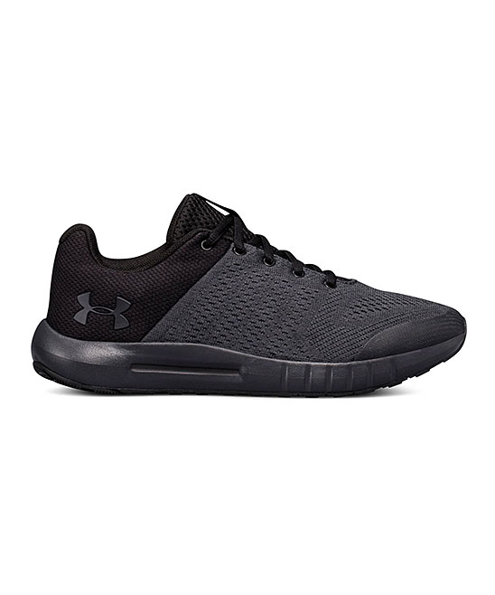 Under Armour Boys' Running Shoes ANTHRACITE - Anthracite Grade School Pursuit Wide Sneaker - Boys