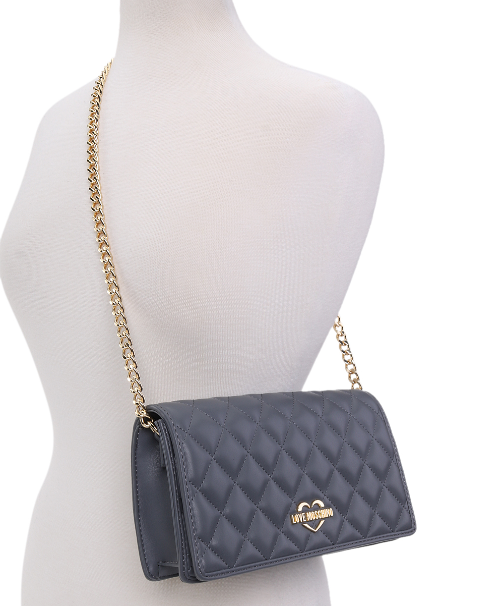 577726b15 ... Womens GREY Navy 'Love Moschino' Quilted Leather Crossbody Bag -  Alternate ...