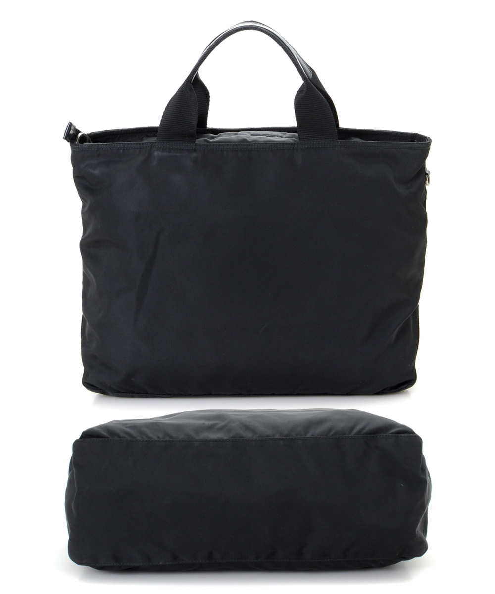 bc46eae191 love this product Pre-Owned Black Tessuto Nylon Two-Way Tote