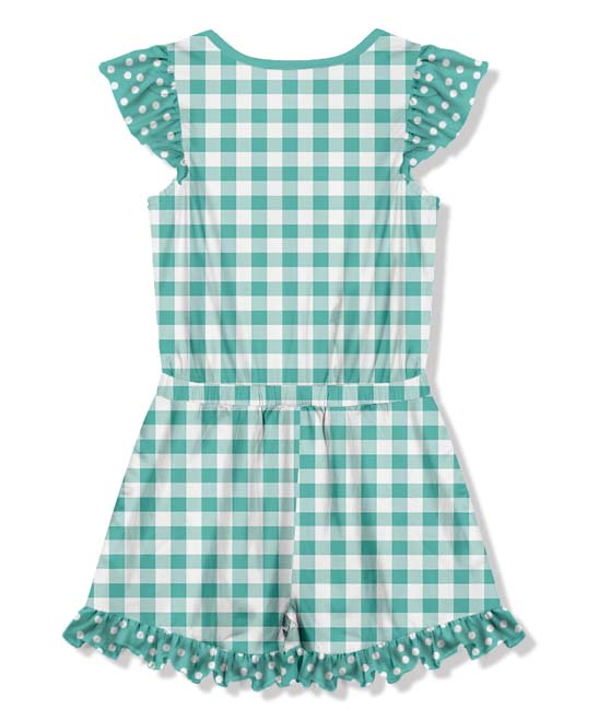 69bee87b9fc4 love this product Green Gingham Floral Button-Front Romper - Toddler   Girls