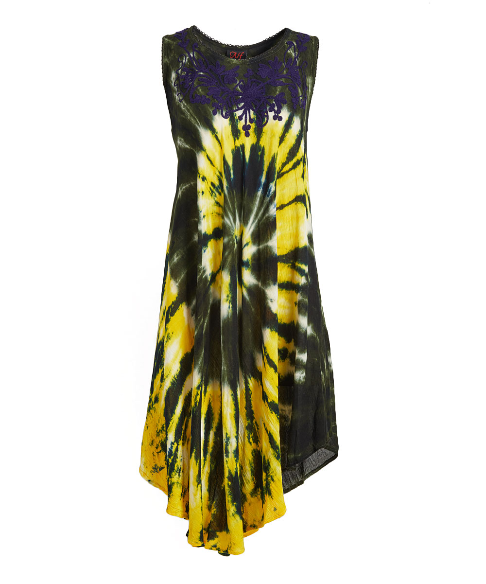 0d1a7ac8fc all gone. Mango   Black Tie-Dye Embroidered Sleeveless Midi Dress - Women