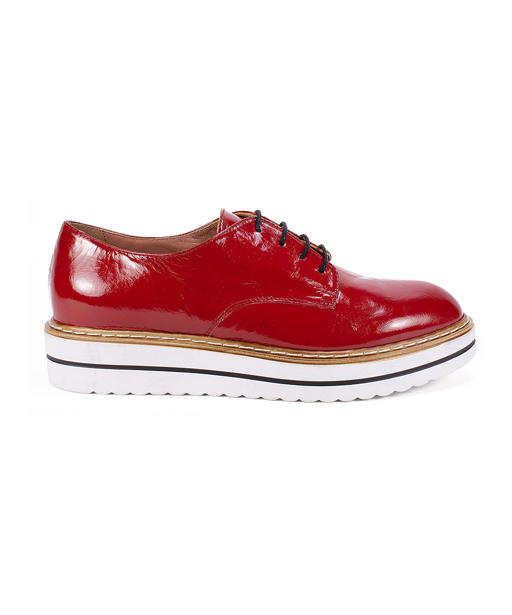 2fef8735e3f19 ... Womens RED/PATENT-647 Red Bethel Patent Leather Oxford - Alternate  Image 4 ...