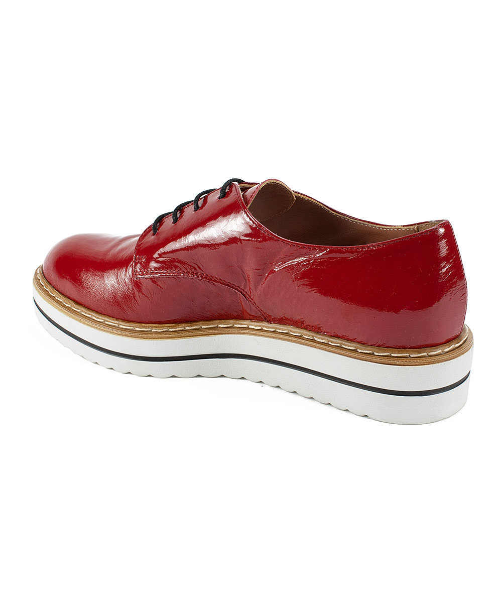 5b374d1be9a09 ... Womens RED/PATENT-647 Red Bethel Patent Leather Oxford - Alternate  Image 5