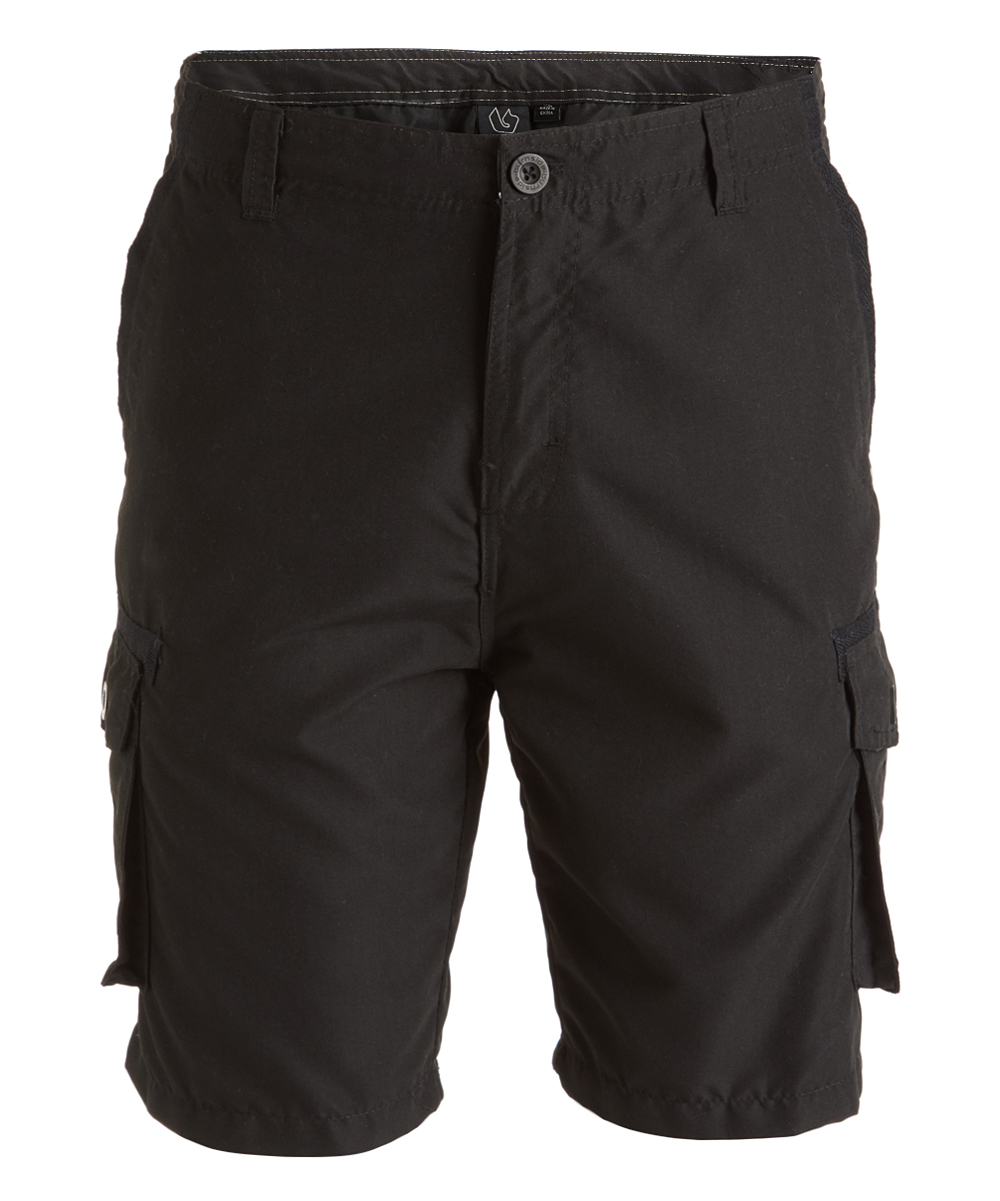 Black Cargo Shorts - Men Black Cargo Shorts - Men. Ensure he has plenty of storage on his sunny days out with these cargo shorts that sport roomy pockets. Size 32: 8'' inseam100% polyesterMachine wash; tumble dryImported