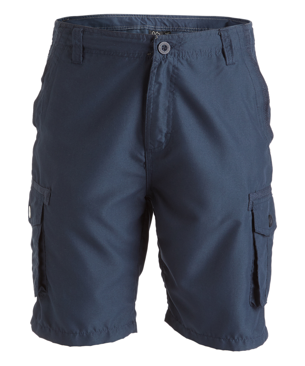 Navy Cargo Shorts - Men Navy Cargo Shorts - Men.  Ensure he has plenty of storage on his sunny days out with these cargo shorts that sport roomy pockets. Size 32: 8'' inseam100% polyesterMachine wash; tumble dryImported