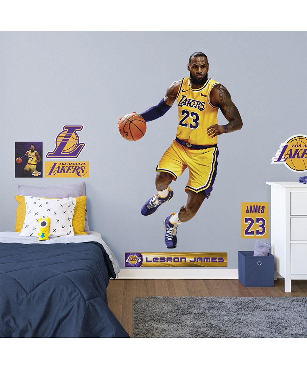 8e66272524f7b ... Multi Fathead Los Angeles Lakers 77   Lebron James Wall Decal Set -  Alternate ...
