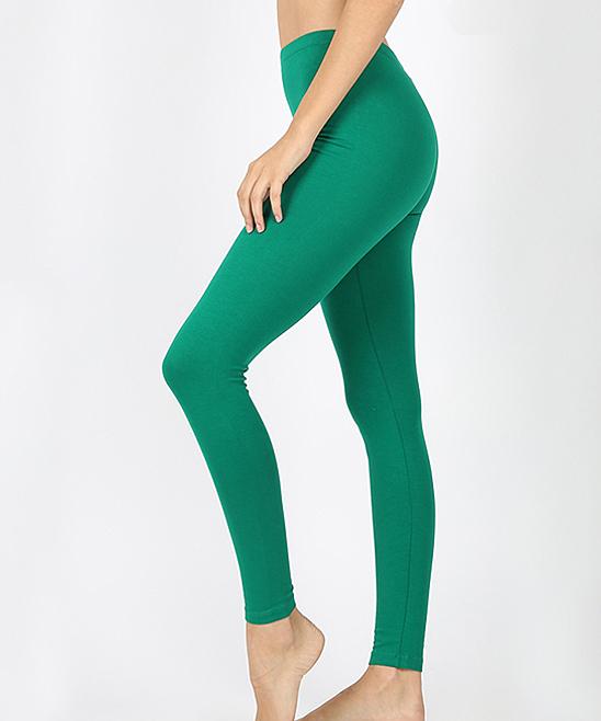 EAG Women's Leggings Forest - Forest Green Full-Length Leggings - Plus