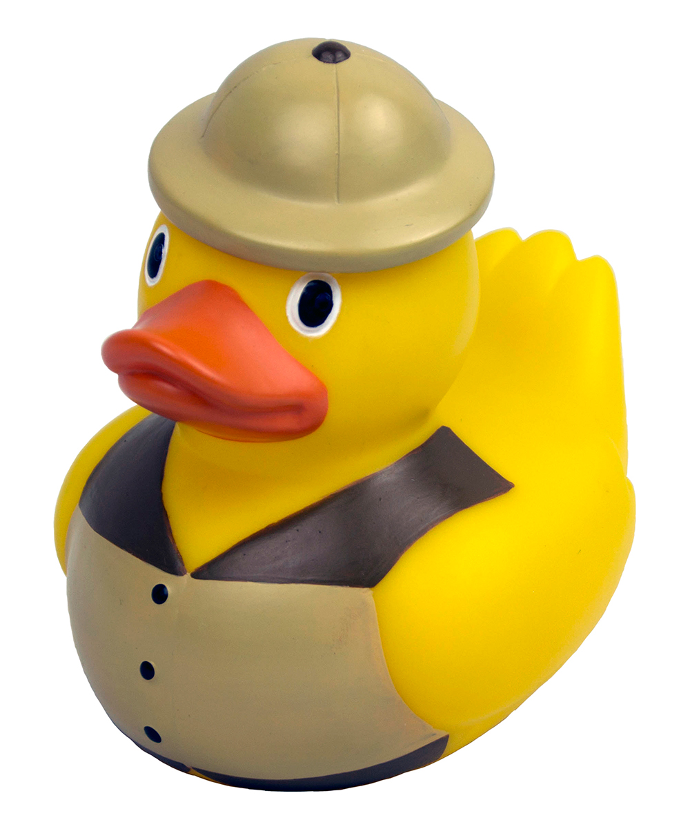 Safari Duck Pool & Spa Thermometer Safari Duck Pool & Spa Thermometer. Stay on top of the comfort levels in your pool or hot tub by popping this quirky thermometer into your backyard waterland. PVCImported