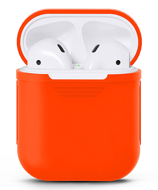 Waloo  Wired Headphones Orange - Orange Silicon Apple Airpod Case Orange Silicon Apple Airpod Case. Give your AirPods the love they deserve with this durable case that features a shock- and water-resistant silicone body for long-lasting appeal.Apple AirPods not includedSiliconeImported