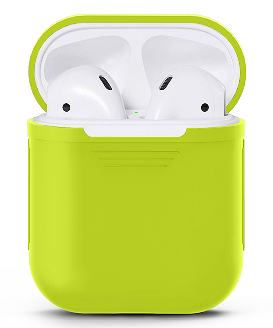 Waloo  Wired Headphones Green - Green Silicon Apple Airpod Case Green Silicon Apple Airpod Case. Give your AirPods the love they deserve with this durable case that features a shock- and water-resistant silicone body for long-lasting appeal.Apple AirPods not includedSiliconeImported