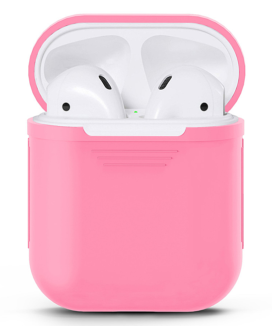 Waloo  Wired Headphones Pink - Pink Silicon Apple Airpod Case Pink Silicon Apple Airpod Case. Give your AirPods the love they deserve with this durable case that features a shock- and water-resistant silicone body for long-lasting appeal.Apple AirPods not includedSiliconeImported