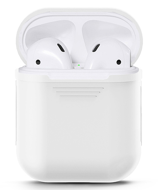 Waloo  Wired Headphones White - White Silicon Apple Airpod Case White Silicon Apple Airpod Case. Give your AirPods the love they deserve with this durable case that features a shock- and water-resistant silicone body for long-lasting appeal.Apple AirPods not includedSiliconeImported