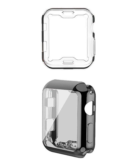 Black Apple Watch Electroplate Case - Set of Two