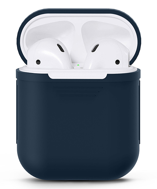 Waloo  Wired Headphones Navy - Navy Silicon Apple Airpod Case Navy Silicon Apple Airpod Case. Give your AirPods the love they deserve with this durable case that features a shock- and water-resistant silicone body for long-lasting appeal.Apple AirPods not includedSiliconeImported