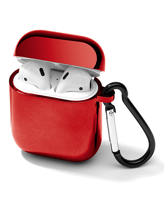 Red Side Carabiner Hard AirPod Case Red Side Carabiner Hard AirPod Case. The durable hard shell construction of this case will keep your AirPods protected from the elements while the attached carabiner ensures they stay close at hand. AirPods not included1.5'' W x 0.3'' H x 2.5'' DPlasticImported