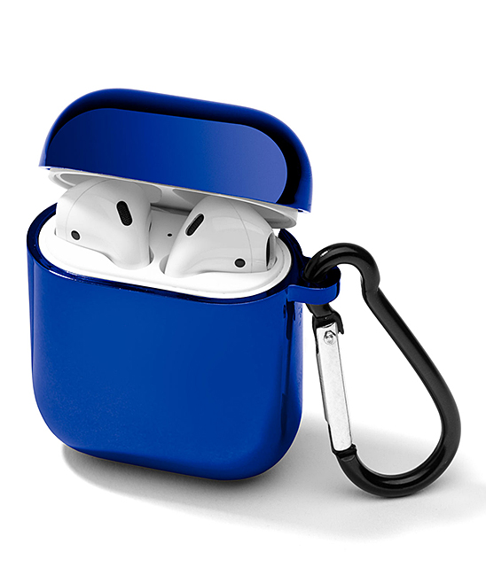Blue Side Carabiner Hard AirPod Case Blue Side Carabiner Hard AirPod Case. The durable hard shell construction of this case will keep your AirPods protected from the elements while the attached carabiner ensures they stay close at hand. AirPods not included1.5'' W x 0.3'' H x 2.5'' DPlasticImported