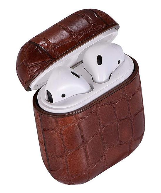 Tech Zebra  Headphone Accessories Brown - Brown Snake Apple AirPod Case