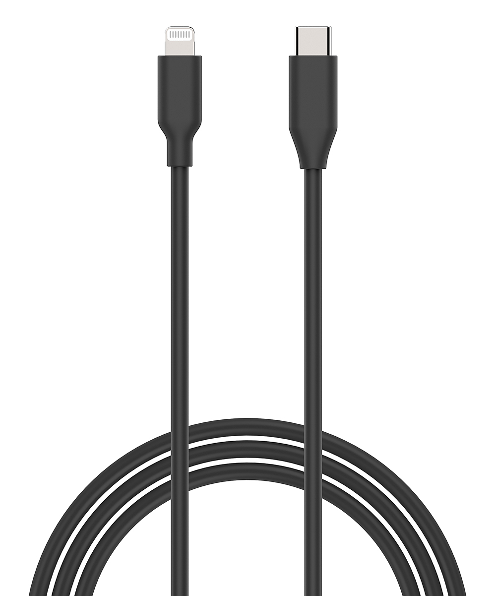 Black Lightning to USB-C Cable
