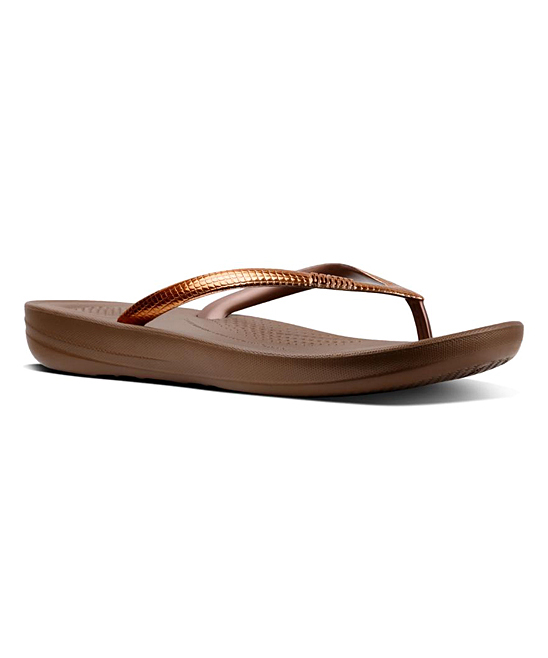 62cbceb74fd6 FitFlop Bronze Mirror iQushion™ Ergonomic Flip-Flop - Women